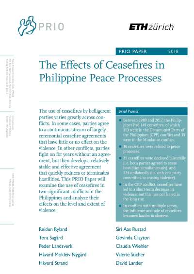 The Effects of Ceasefires in Philippine Peace Processes