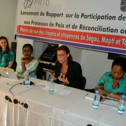 Launch of PRIO Paper on Women's Participation in Peace and Reconciliation Processes in Mali