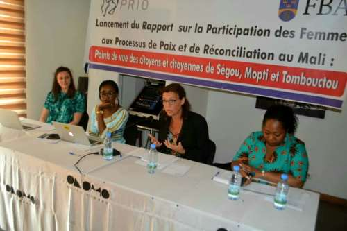 Launch in Bamako of PRIO Paper on Women's Participation in Peace and Reconciliation Processes in Mali