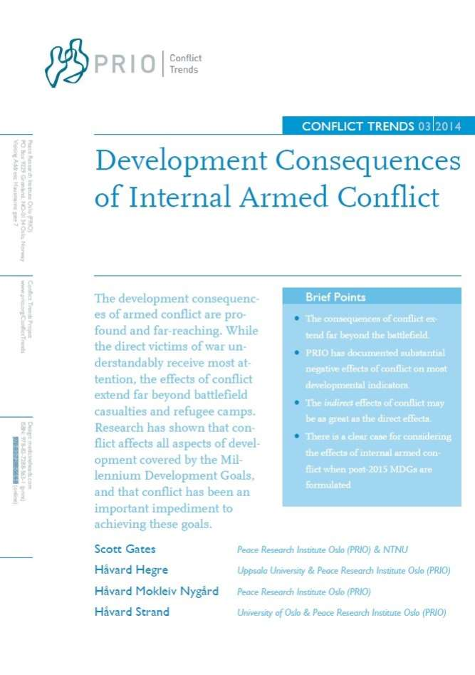 Development Consequences of Internal Armed Conflict