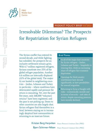 MidEast Policy Brief on Prospects for Repatriation for Syrian Refugees