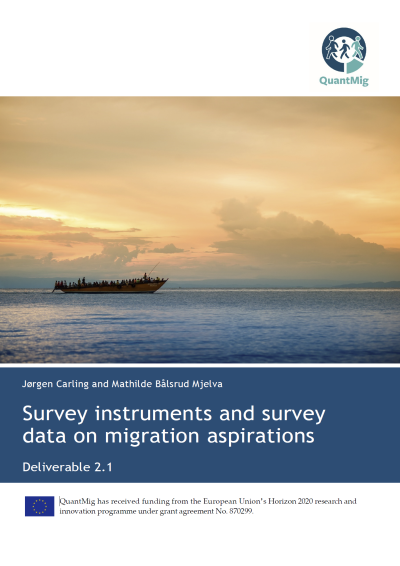 Survey instruments and survey data on migration aspirations