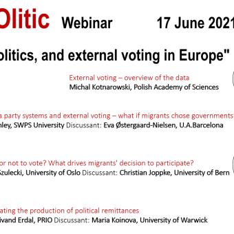 Webinar: Migrants, politics, and external voting in Europe