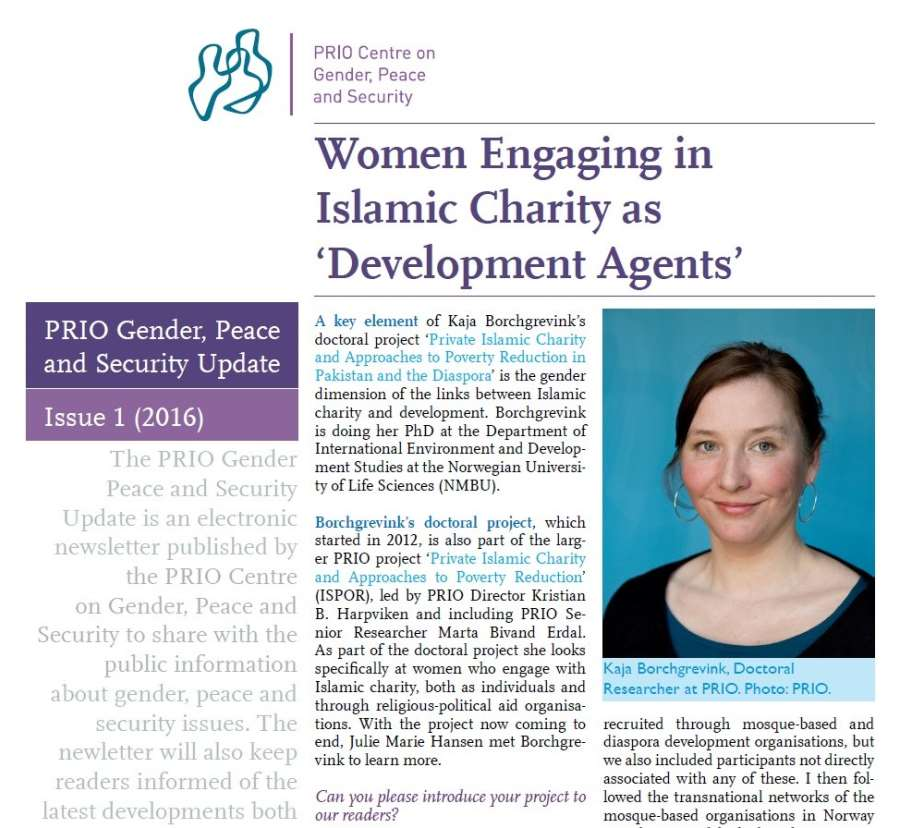 PRIO Gender, Peace and Security Update (Issue 1-2016)