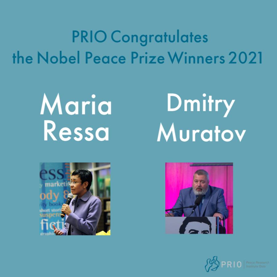 PRIO Director Henrik Urdal Celebrates Journalists' Nobel Win