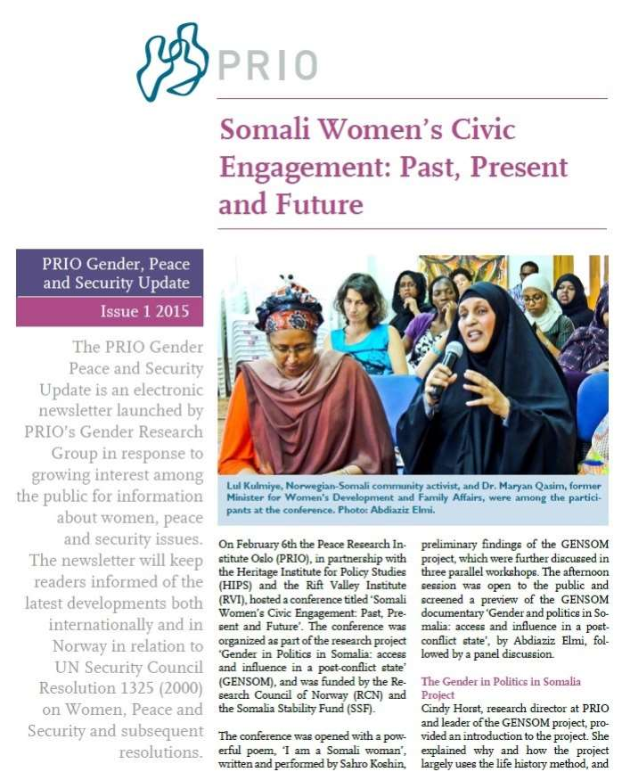 PRIO Gender, Peace and Security Update (Issue 1-2015)