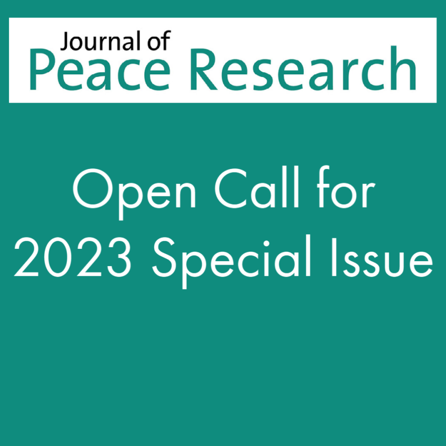 Open Call for 2023 Special Issue of the Journal of Peace Research