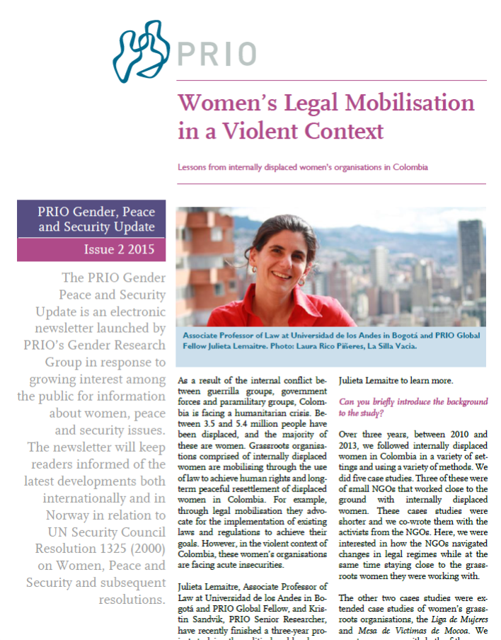 PRIO Gender, Peace and Security Update (Issue 2-2015)