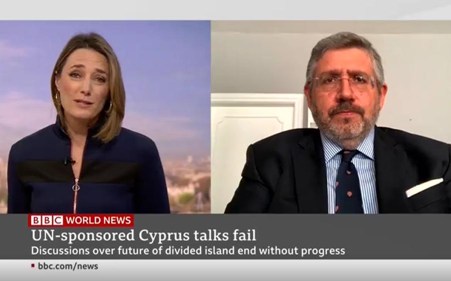 Harry Tzimitras on BBC World News