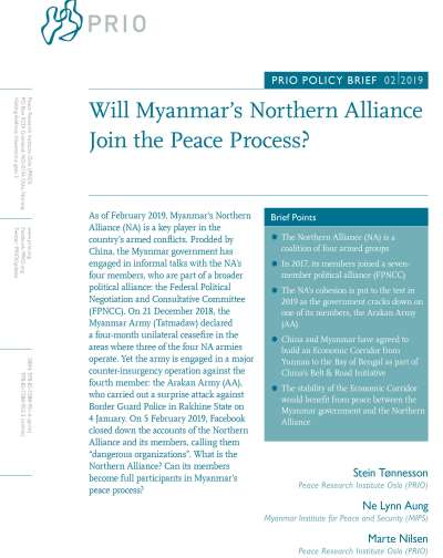 Will Myanmar's Northern Alliance Join the Peace Process?