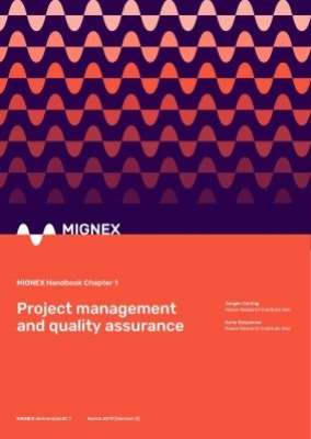 Project management and quality assurance, MIGNEX Handbook Chapter 1