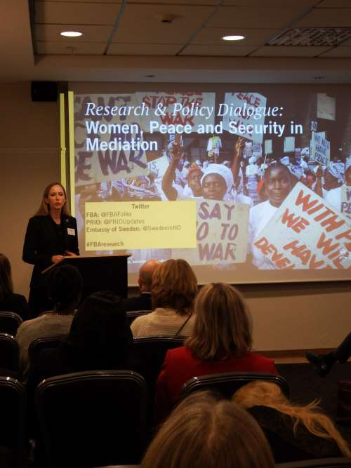 Researchers and Policymakers in Dialogue on Women, Peace and Security in Mediation