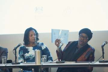 Bineta Diop, the African Union's Special Envoy on Women, Peace and Security, speaking at the opening event of the Missing Peace Symposium in Oslo, 7 December 2017