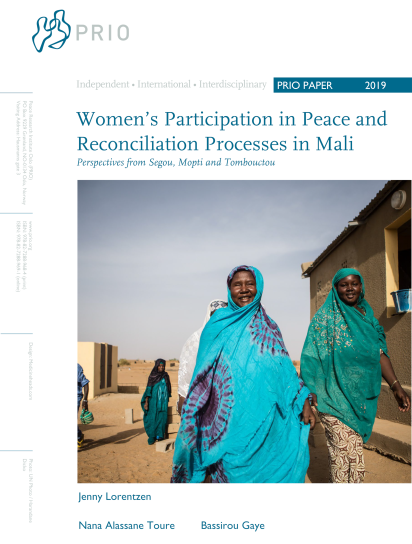 PRIO Paper on Women's Participation in Peace and Reconciliation Processes in Mali