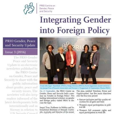 PRIO Gender, Peace and Security Update (Issue 3-2016)
