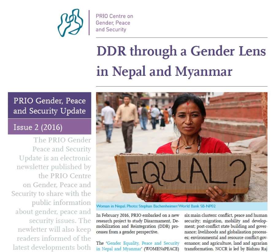 PRIO Gender, Peace and Security Update (Issue 2-2016)