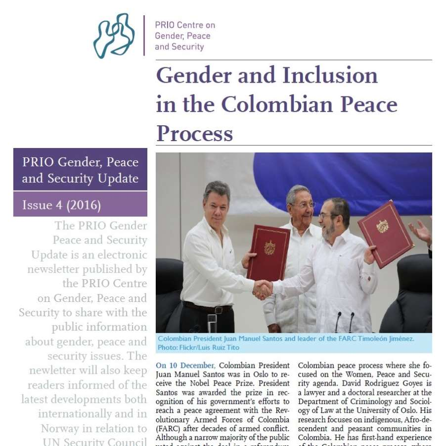 PRIO Gender, Peace and Security Update (Issue 4-2016)