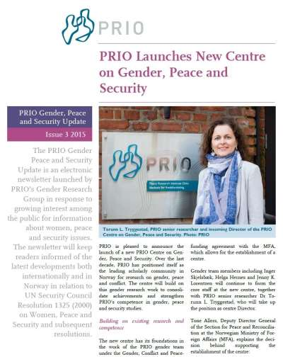 PRIO Gender, Peace and Security Update (Issue 3-2015)