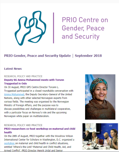 PRIO Gender, Peace and Security Update - September 2018
