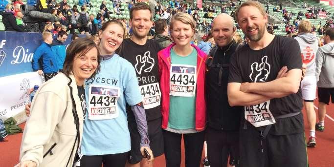 Part of PRIO's team for Holmenkollstafetten