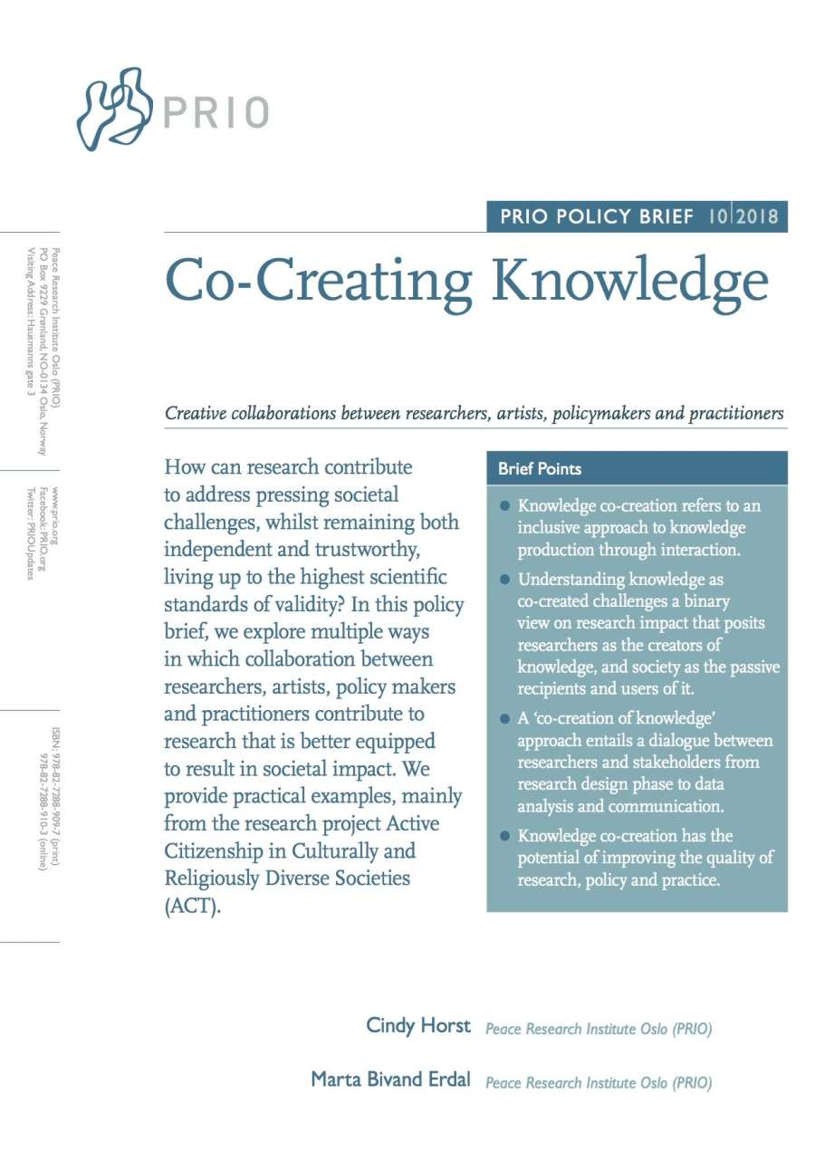 New Prio Policy Brief On Co Creation Of Knowledge Prio