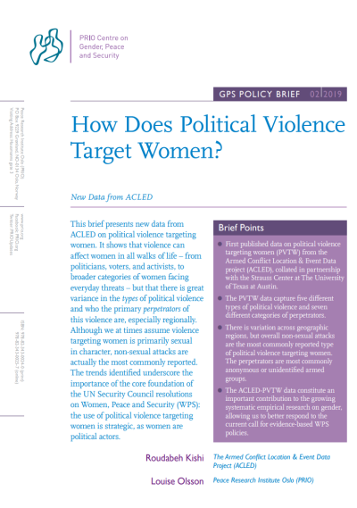 New GPS Policy Brief: How Does Political Violence Target Women?