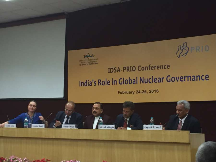 India's Role in Global Nuclear Governance - IDSA-PRIO Conference