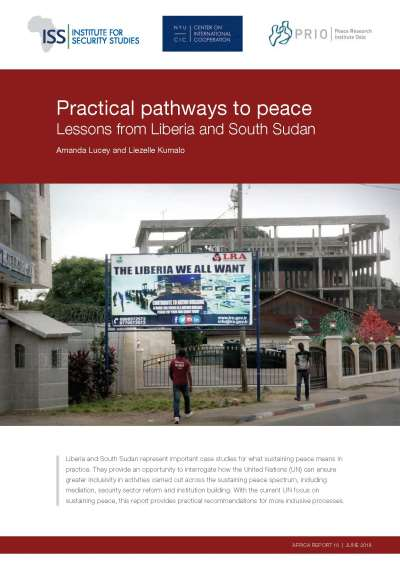 Practical pathways to peace: lessons from Liberia and South Sudan