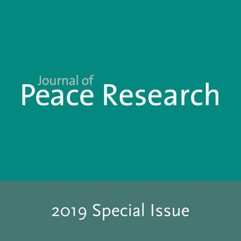 Journal of Peace Research Special Issue 2019 is out