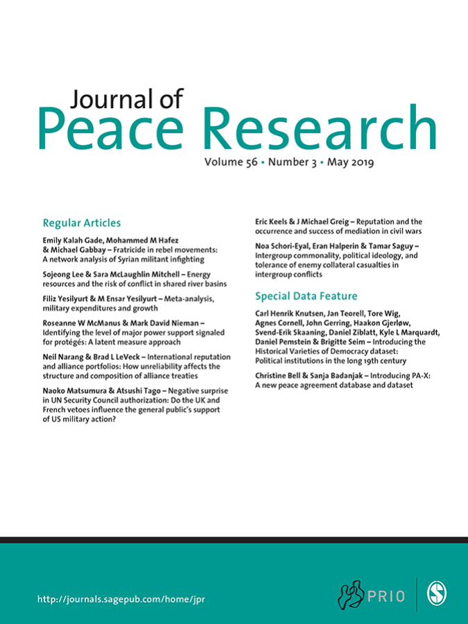 Journal of Peace Research Does Well on Ranking