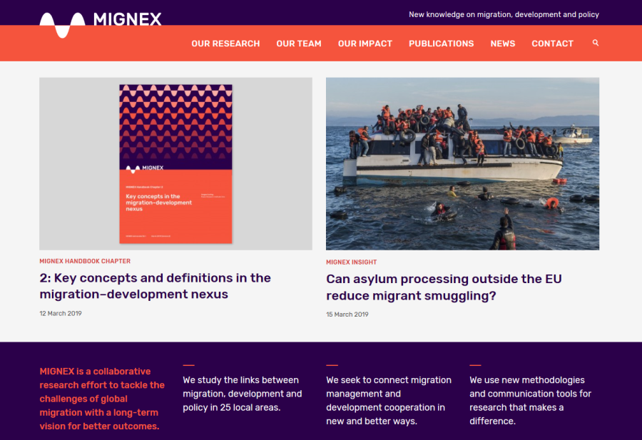 The Website of MIGNEX, the Largest-Ever PRIO-Led Project, Is Launched