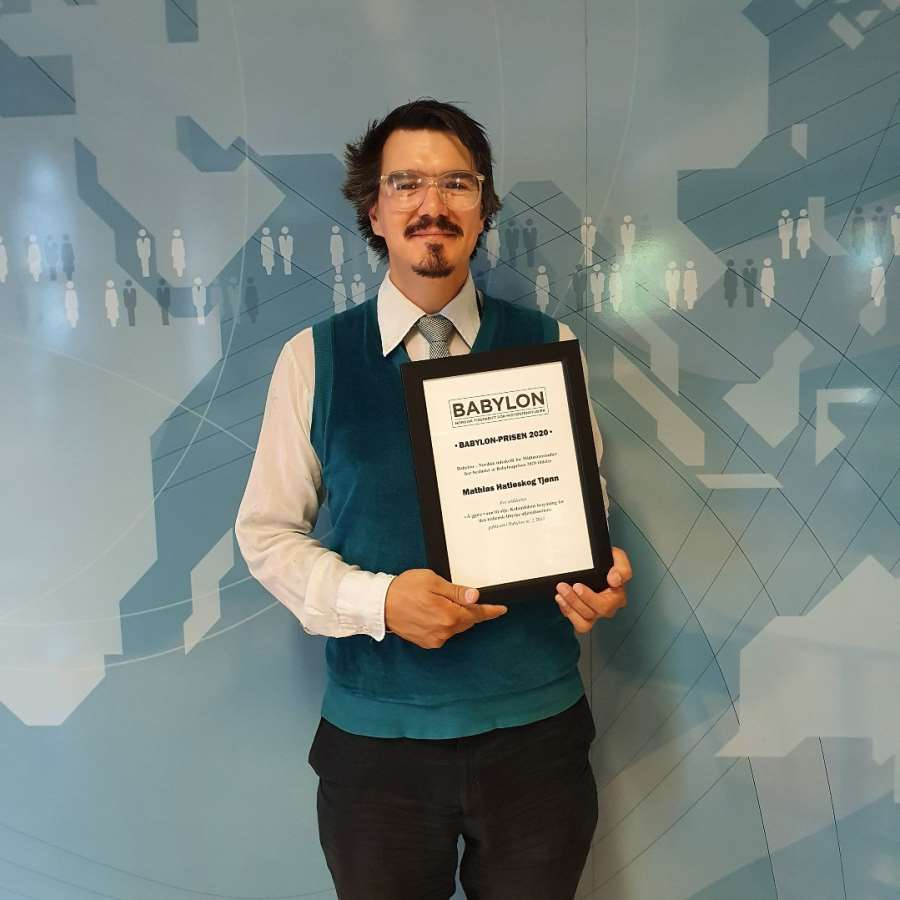"Mathias Hatleskog Tjønn Wins ""Babylon-Prisen"" for Best Article by a Pre-PhD Author"