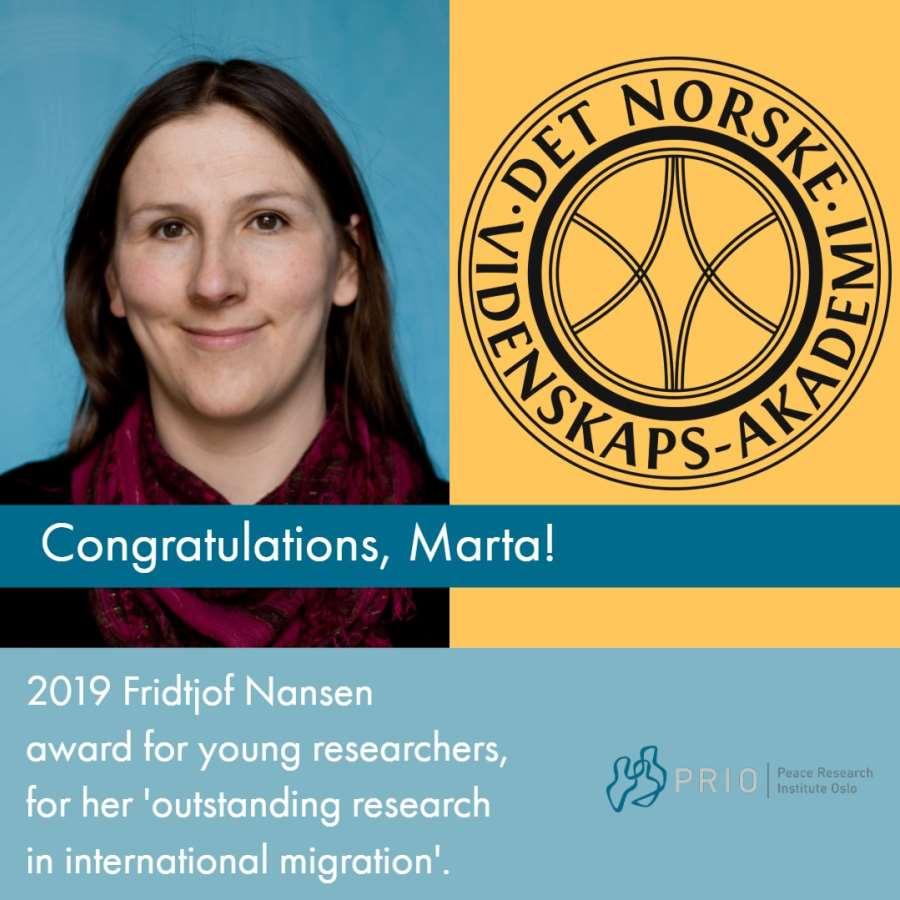 Marta Bivand Erdal Receives Fridtjof Nansen Award