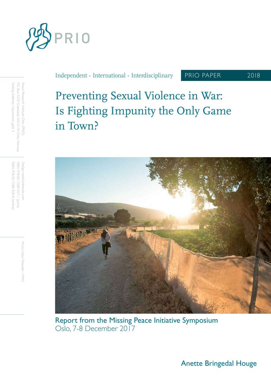 New PRIO Paper on Preventing Sexual Violence in Conflict