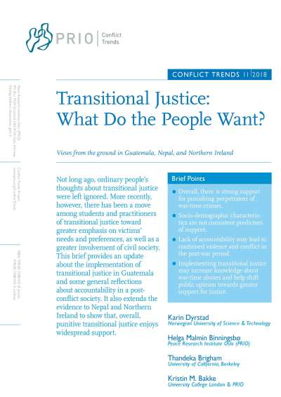 Transitional Justice: What Do the People Want? Views from the ground in Guatemala, Nepal, and Northern Ireland