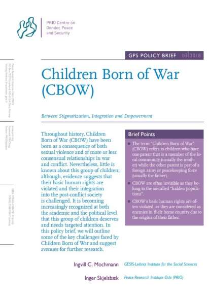 New GPS Policy Brief on Children Born of War