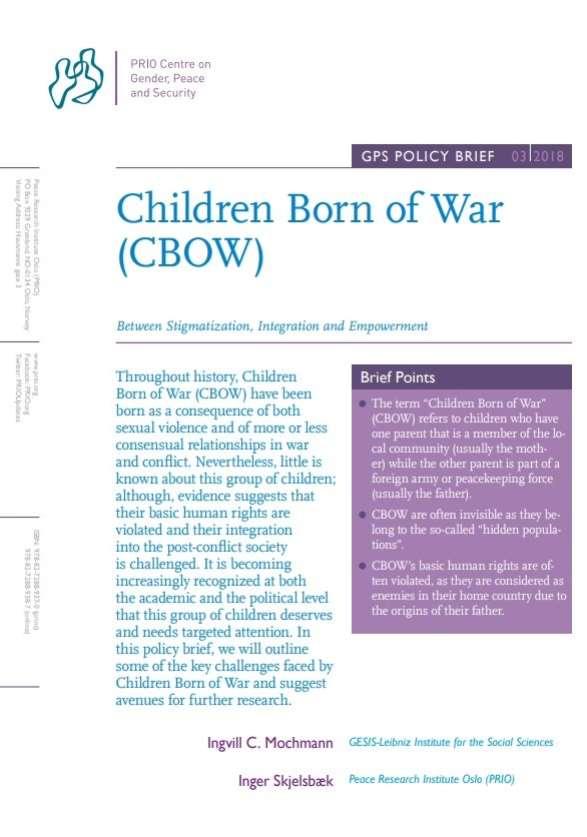 New GPS Policy Brief on Children Born of War