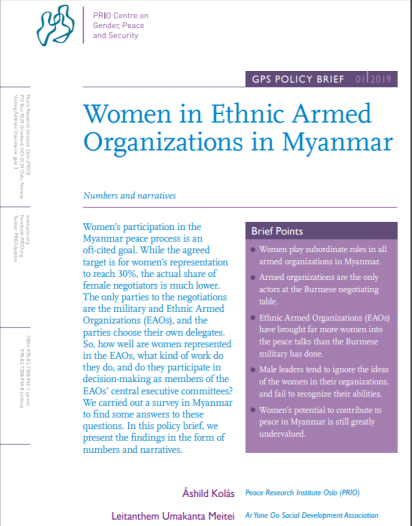 New GPS Policy Brief on Women in the Myanmar Peace Process