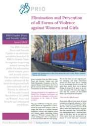 PRIO Gender, Peace and Security Update (Issue 2-2013)