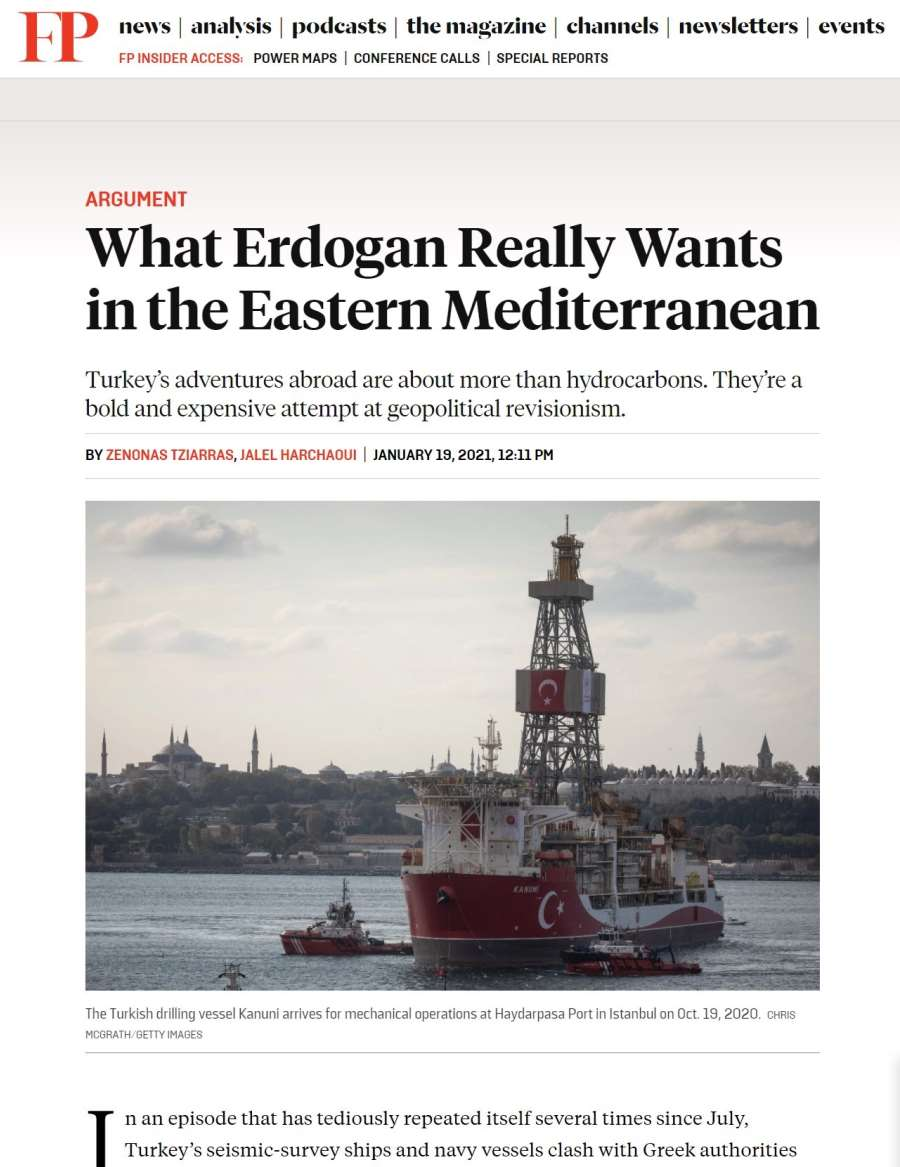 What Erdogan Really Wants in the Eastern Mediterranean