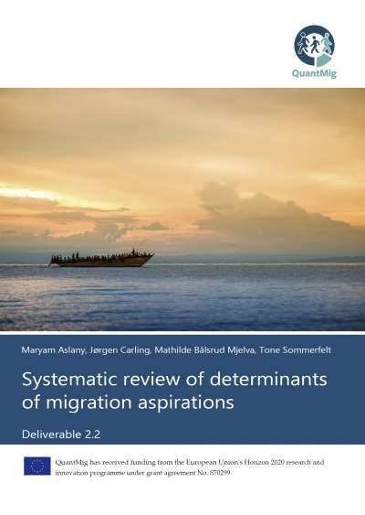 Systematic review of determinants of migration aspirations