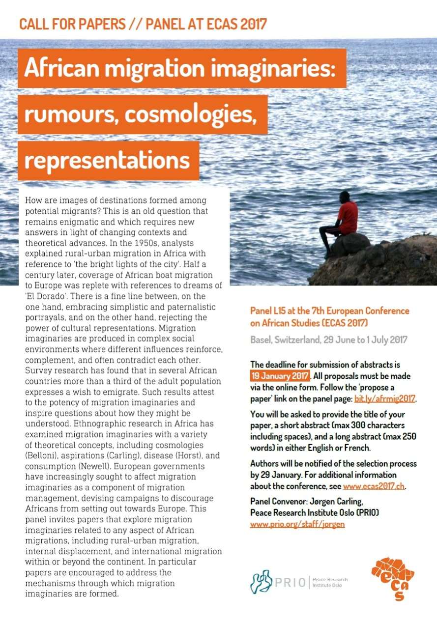 Call for Papers: African migration imaginaries: rumours, cosmologies, representations