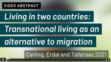 Living in two countries: Transnational living as an alternative to migration