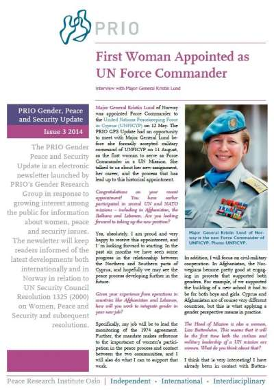 PRIO Gender, Peace and Security Update (Issue 3-2014)