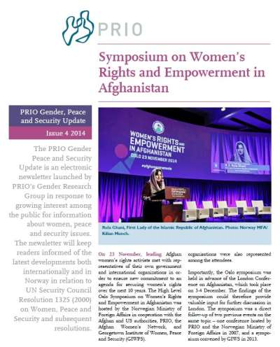 PRIO Gender, Peace and Security Update (Issue 4-2014)