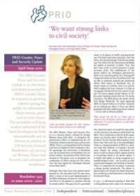 Gender, Peace and Security Update - new issue!