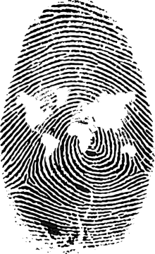 World Map and Fingerprint