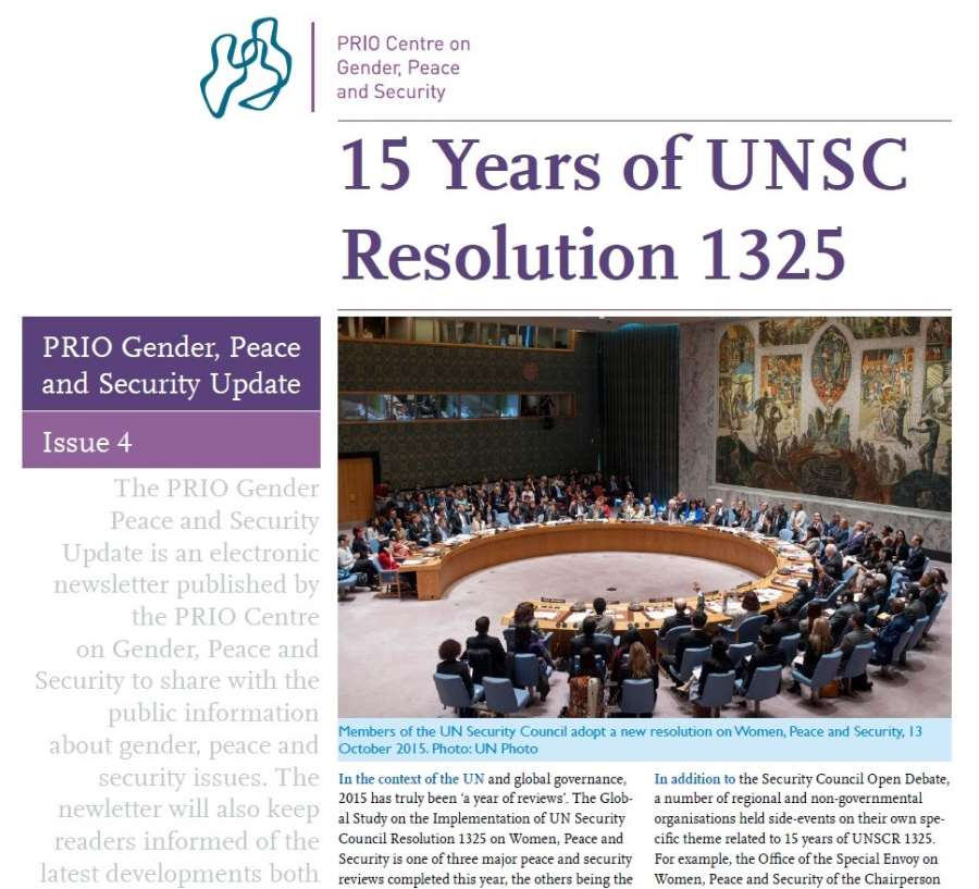 PRIO Gender, Peace and Security Update (Issue 4-2015)