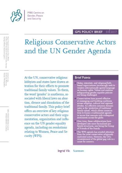 Religious Conservative Actors And The Un Gender Agenda  Prio