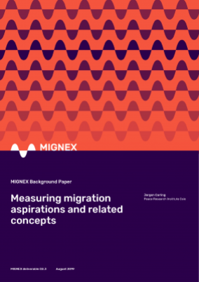 Measuring migration aspirations and related concepts